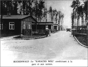 "Le ""Karacho Weg"" de Buchenwald (source : F.N.D.I.R.P.)"