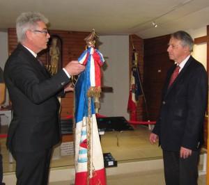 Christophe Dham s'adressant à Mr Foubert et à l'Assemblée.