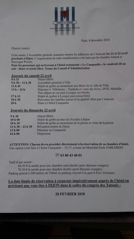 Agenda de l'AG à Dijon